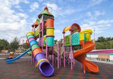 Playground for children in parks Royalty Free Stock Image