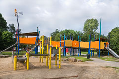 Playground for children in public Royalty Free Stock Images