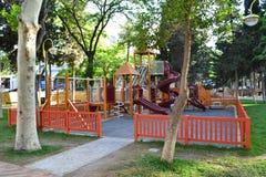 Playground. Childrens playground in a city park Stock Photos