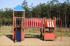 Playground for children. In summer Royalty Free Stock Photos