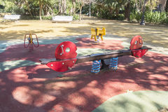 Playground for children to play in the park Royalty Free Stock Images