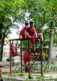 Playground. Children were playing in a playground during recess school in Solo, Central Java, Indonesia Stock Images
