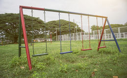 Playground of children and young in a park,selective focus,filtered image,light effect added Royalty Free Stock Photos