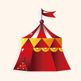 Playground circus tent theme elements vector,eps Stock Image