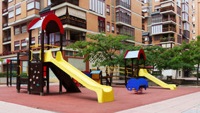Playground  in city street Stock Photos