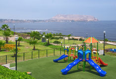 Playground on the Coast of Lima Stock Image