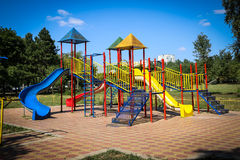 Playground. A colored kids playground in outdoor Stock Photo