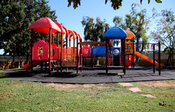 Playground. Colorful playground in a park Royalty Free Stock Image