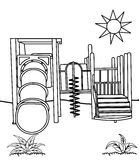 Playground coloring page Royalty Free Stock Photo