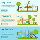 Playground Concept Banners Stock Photography
