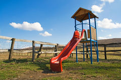 Playground at country side. Colorful playground at country side Royalty Free Stock Images