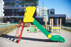 Playground in the courtyard Stock Image