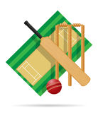 Playground for cricket vector illustration Royalty Free Stock Image