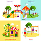 Playground Design Concept Stock Photography