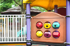 Playground details. Colorful details of a children playground Royalty Free Stock Photos