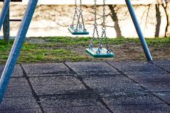 Playground with a double seesaw. For kids Royalty Free Stock Photos