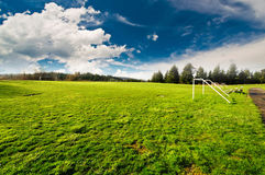 Playground with dramatic sky Royalty Free Stock Photos