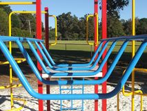 Playground equipment. Bars Stock Photography