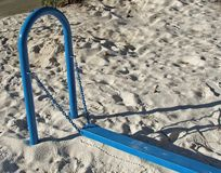 Playground equipment. Balance Beam Royalty Free Stock Photography