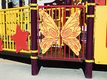 Playground equipment butterfly Stock Image