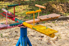 Playground Equipment the carousel. In the park Stock Photography