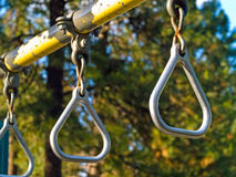 Playground Equipment Closeup. Showing Detail on a Sunny Day Royalty Free Stock Photography