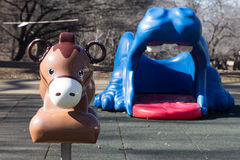 Playground equipment, a donky Royalty Free Stock Photography