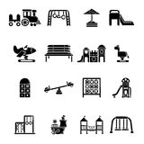 Playground equipment icons set, simple style Royalty Free Stock Photo