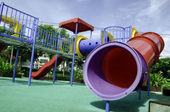 Playground. Equipment in the park Royalty Free Stock Images