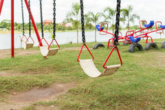Playground equipment in the park Royalty Free Stock Photo