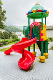 Playground equipment in the park. Colorful children playground equipment in the park Royalty Free Stock Photos