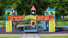 Playground equipment in the park Stock Photo