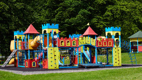 Playground equipment in the park Stock Images