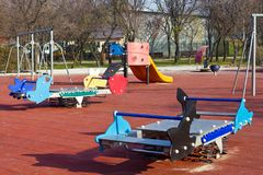 Playground equipment Stock Photography