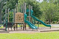 Playground Equipment. In a small city park Royalty Free Stock Photo