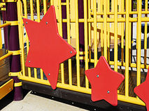 Playground equipment stars Royalty Free Stock Image