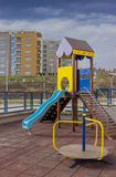 Playground equipment in the urban place Stock Photos