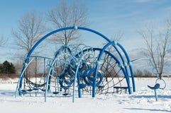 Playground Equipment in Winter Stock Photo