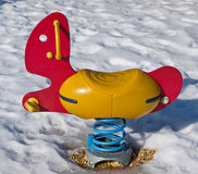 Playground Equipment Winter Stock Photography