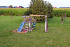 A playground at a farm in ontario Stock Photography