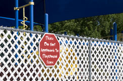 Playground Fence Stock Photography