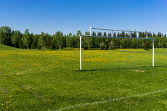 Playground field in spring time Royalty Free Stock Photography