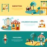 Playground Flat Banner Stock Photos