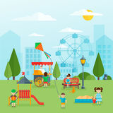 Playground Flat Concept Royalty Free Stock Image