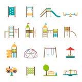 Playground Flat Icons Set Stock Photo