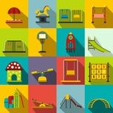 Playground flat icons set Royalty Free Stock Photography