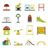 Playground flat icons set Stock Image