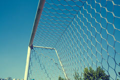 Playground football goal post Stock Image