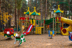 Playground in the forest Stock Image