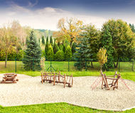 Playground on a fresh air in sunny day Stock Photography